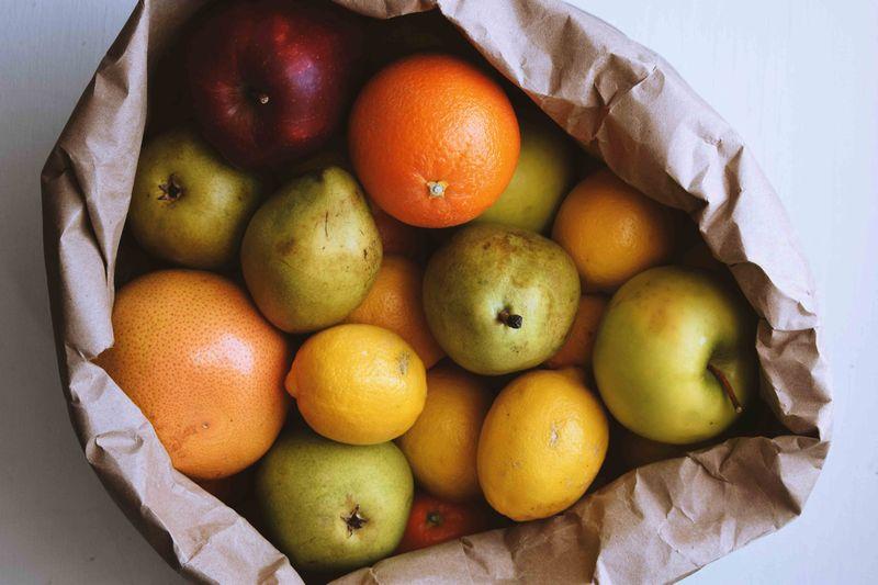 紙袋 フルーツ 買い物