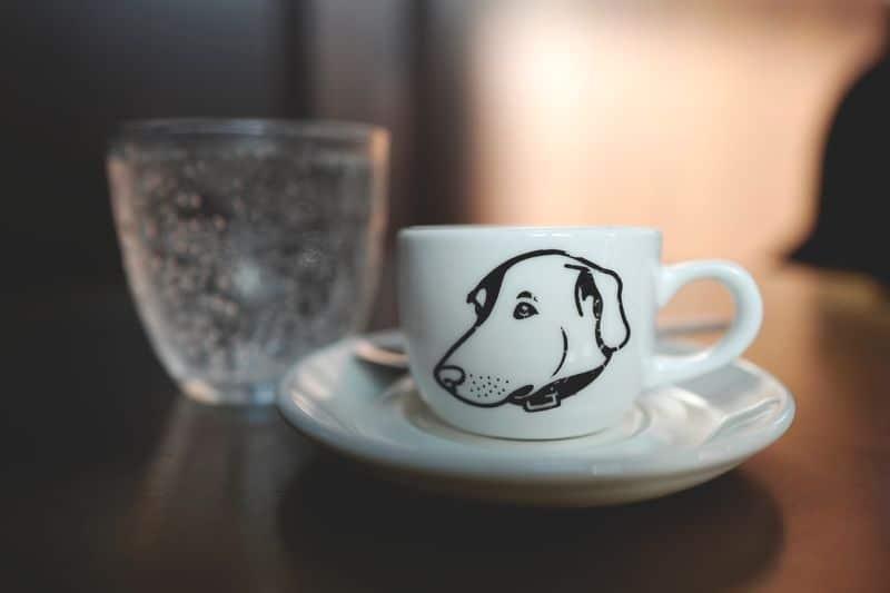 デザイン 犬 ドッグカフェ オリジナル ロゴ カップ
