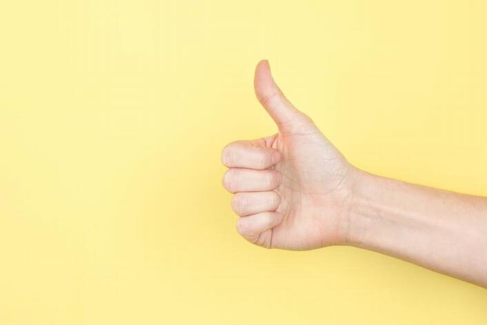 Thumb up 安全